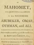 Life of Mahomet 1859 by Gibbon